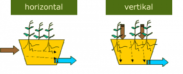 graphic: direction of waterflow of constructed wetlands